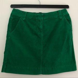 J.CREW Corduroy Skirt in Green